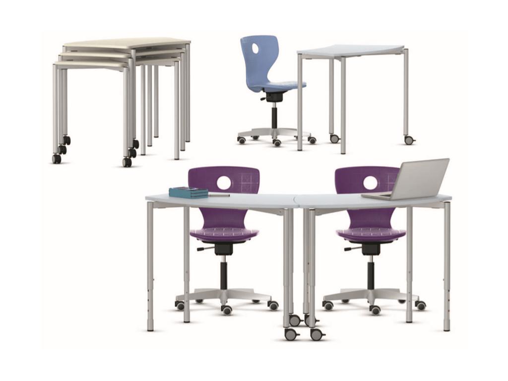 Tables modulables IA France pour salle de classe flexible