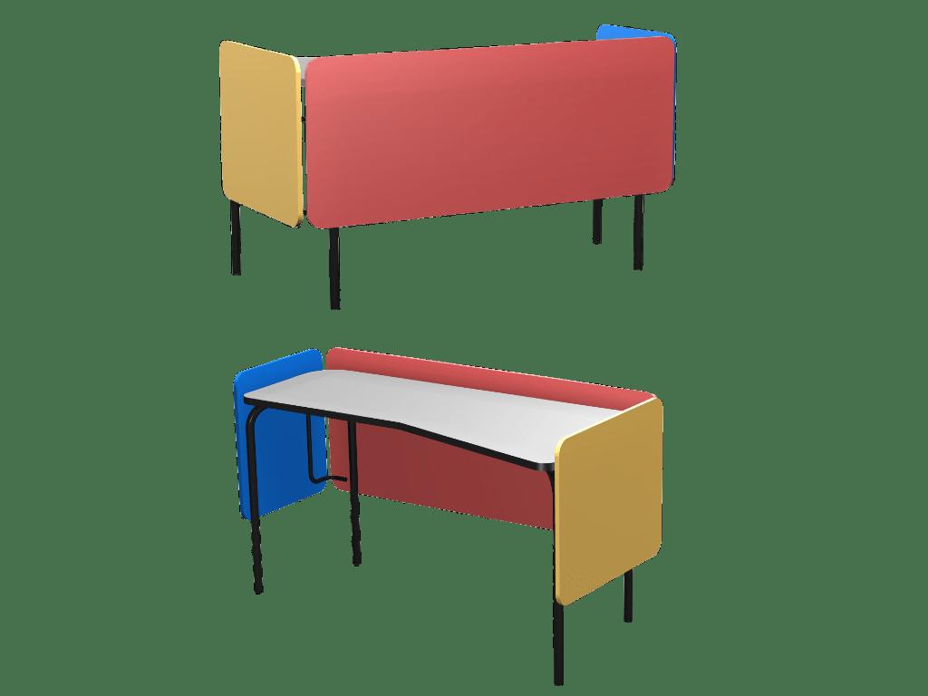 Chaire de professeur 345, design et colorée