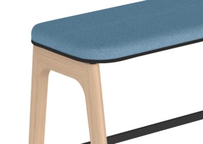 Banquette haute proposée par IA France, mobilier poressionnel