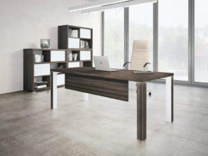 Bureau de direction design avec 4 pieds carrés en métal