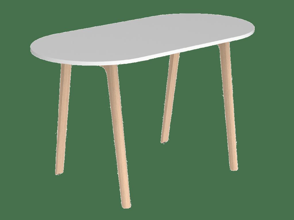 Table haute design Levitate, mobilier d'entreprise au design naturel