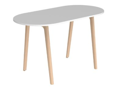 Table haute d'entreprise au design naturel