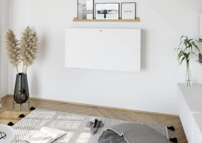 Bureau design home-office, un bureau mural pliable