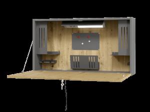 Bureau mural design pour travail à la maison