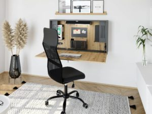 Bureau mural télétravail ou home-office, design et compacte