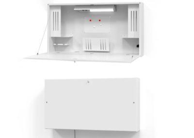 Bureau pour home-office ou télétravail, mural et pliable
