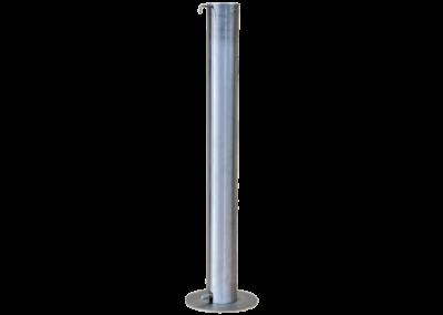 Distributeur gel hydroalcoolique sur pieds, en inox